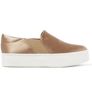 🆕 Vince Warren Fawn Satin Sneakers
